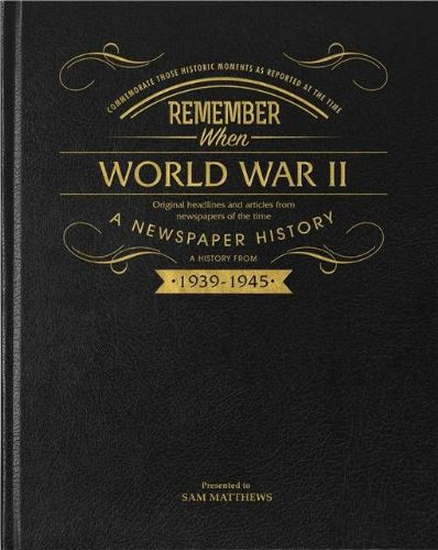 Personalised WW2 75th Anniversary Newspaper Book with gift box